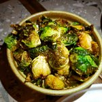 Fried Brussels and Japanese ponzu.  A very different way for preparing brussels, good taste!