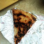 Spalona pizza