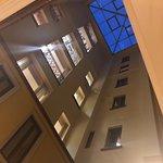 Indoor balconies overlooking lobby