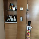 In room mini bar and coffee station