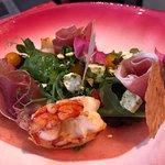 Salade Watermeloen, Gamba en Serrano