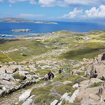 Aerial view from the peak at Delos