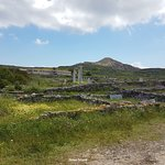 View of Delos mountain from the base
