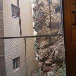 La vue de la fenêtre de la chambre.