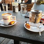 Top koffie , cappuccino met extra shot espresso