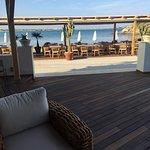 outdoor breakfast seating