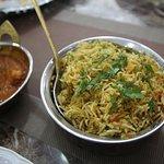 Our Plain Briyani dish, accompanied with Prawn Tika Masala. Amazing combo!