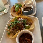 Delicious carne asada taco and veggie taco $4 each at HH