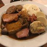 Set of meats and knedliky at Zlaty Klas