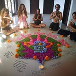 Yoga class at Temuku