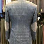 Men's Blue Checked Blazer