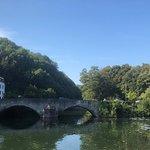 zicht op Romeinse brug