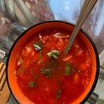 Borscht soup, vegetarian version