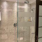 New showers. So clean and modern.