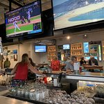 Salt Life Food Shack's indoor/outdoor bar area