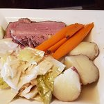corned beef and cabbage, August 2019