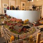 Fulton County Museum -  model train set on second floor