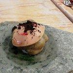 coliflor regaliz y foie