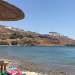 View of Chora & the Castle from the beach