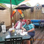 My husband and I at the patio at Patio's