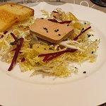 Foie Gras sur Fond d'artichaut