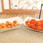 Check out the fried okra and sweet potato fries!