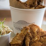 Be the life of the party when you show up with Sticky Thighs fried chicken at your next event!
