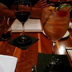 Red wine and white sangria - lovely beginning to a wonderful meal.