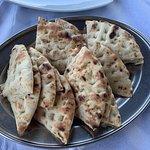 Tzaziki with freshly prepared pita bread