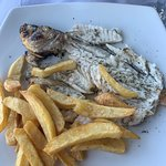 Fresh fish and french fries