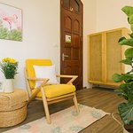 A relax and comfortable space in the garden view room