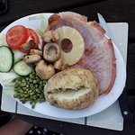 Gammon on a pretty decent sized plate