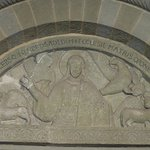 Soest, St. Patrokli church, Christ in Majesty in the tympanum of the Paradise portal