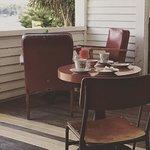 High Tea on the veranda at Pigeon Bay Hall.