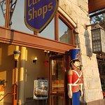Bavarian Inn Restaurant Castle Shops Main Street sign and toy soldier