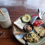 Breakfast with Power Monkey smoothie