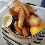 Beer Battered Flathead and chips