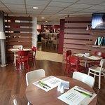 Quiet corner of the restaurant