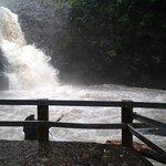 El paisaje que crea la cascada al caer, es único!!!