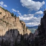Beautiful view down Dead Horse Canyon just before you reach Hanging Lake.