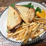 A smaller Club Sandwich with great fries
