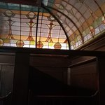 the inside of the Gents toilet - amazing stained glass roof