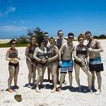 Mayan mud bath in Ria Lagarto.