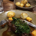 THE CUANCIA DI MANZO (BEEF CHEEKS) AND PATATE ARROTO (ROAST POTATOES). THE BEEF WAS SUCCULANT AND TENDER, THE POTATOES COOKED TO PERFECTION.