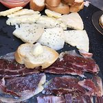 Iberico ham and cheese platter