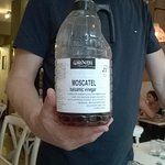 Owner showing us the Spanish Moscatel white balsamic vinegar