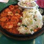Camarones Locos (Spicy Shrimp) had the right amount of hot.