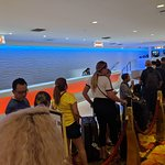 Checking in at Tropicana 20 + people on line one check in person