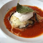 Eggplant with goat cheese ricotta
