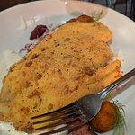 Sunflower seed crusted catfish. YUM!